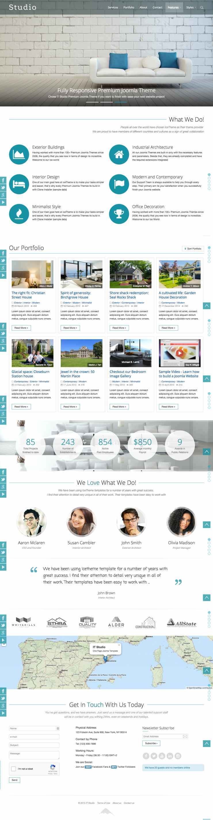 IT Studio Joomla One Page Portfolio Template