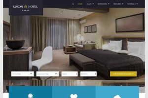 Luxon Joomla Resort or Hotel Accommodation Template