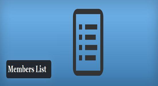 Members List WP Plugin