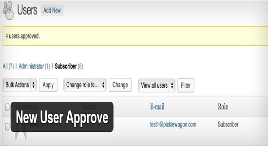 New User Approve WP Plugin