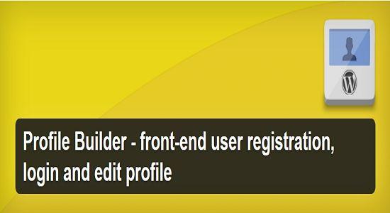 Profile Builder WP Plugin