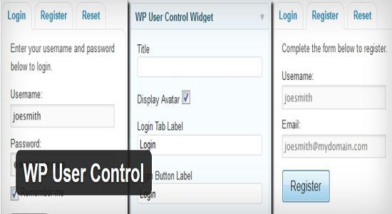 WP User Control WP Plugin