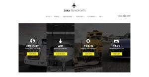 Zoka Transports Joomla Transportation Service Template
