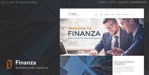 Finanza Flat WordPress Theme