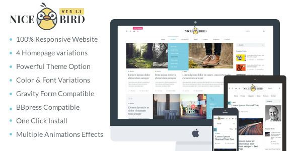 NiceBird Flat WordPress Theme
