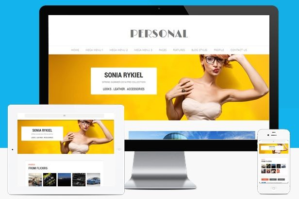 Personal Responsive WordPress Blog Theme