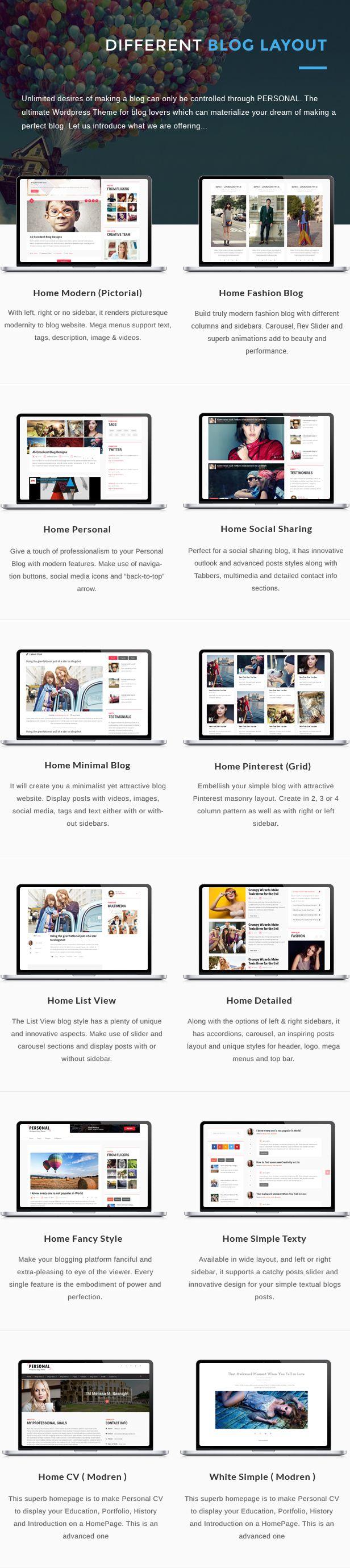 Personal WordPress Modern Blog Style Theme