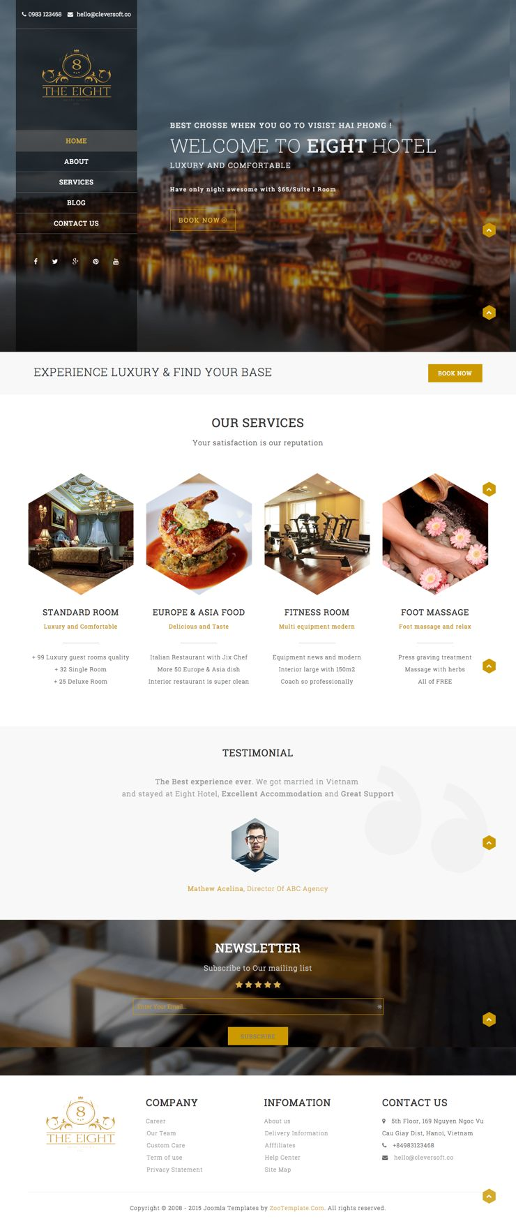ZT Hotel Joomla Travelling & Restaurants Template