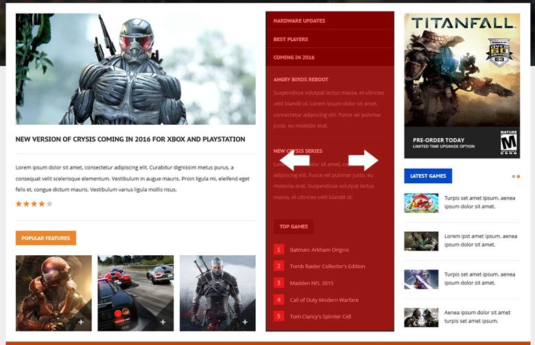 Game World Joomla Template For Gaming Magazine