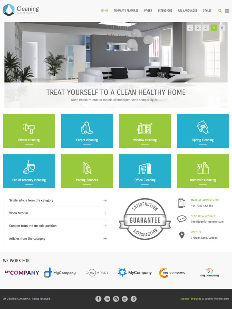 jm cleaning company joomla template for isp financial services
