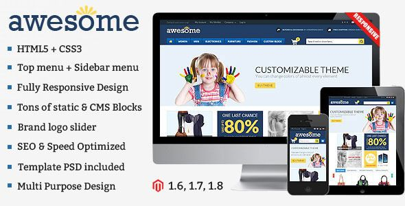 Awesome Responsive Multipurpose Magento Theme