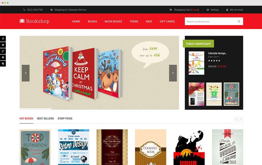 Bookshop Responsive Magento Bookstore Theme