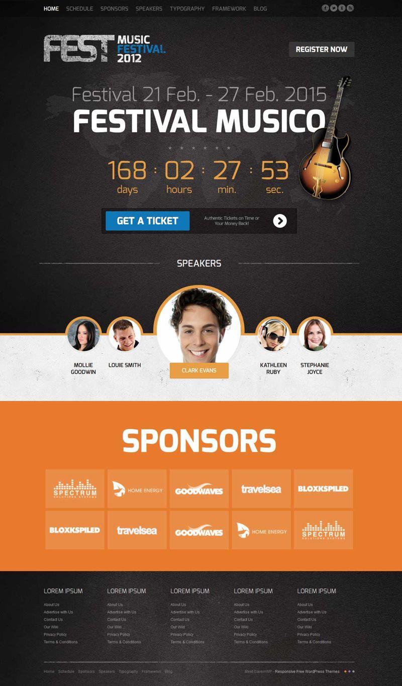 Fest Joomla Music Events Template
