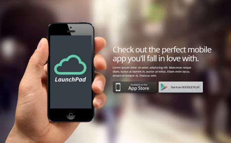 Launchpad Responsive App Landing Page