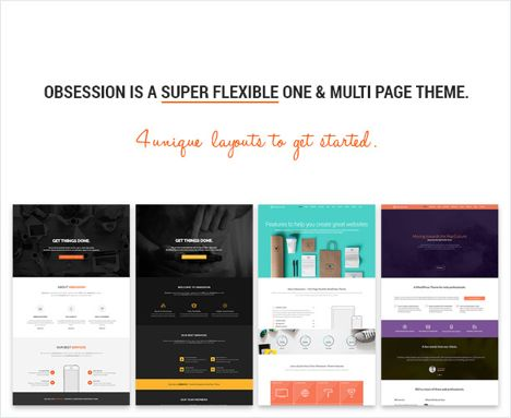 Obsession Responsive App Landing Page WordPress Theme