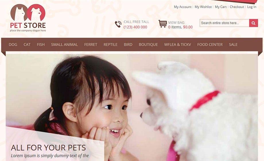 Pet Store Magento Theme