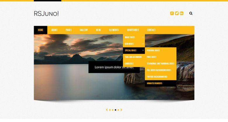 RSJuno 2.0 Joomla Business Service Template