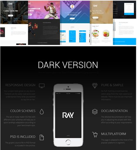 Ray App Landing Page Theme
