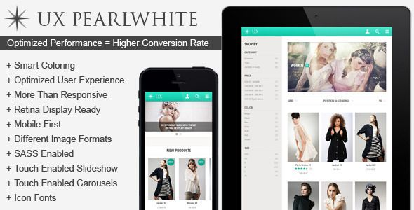 UX Pearlwhite Responsive Magento Theme