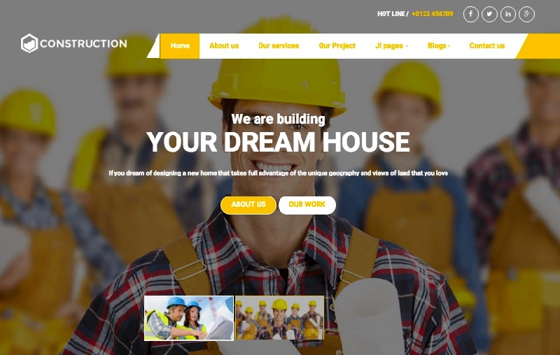 BT Construction Joomla Template for Architecture & Builders