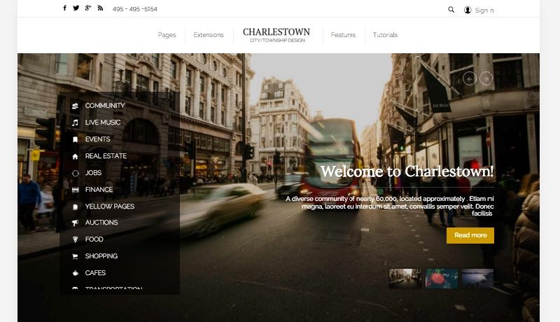 Charlestown Joomla Template for Township & City