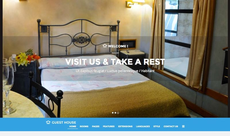 JM Guest House Template – Homepage Design 1