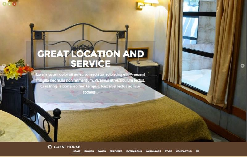 JM Guest House Template – Homepage Design 4