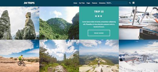 JM Trips Joomla Travel Gallery Template