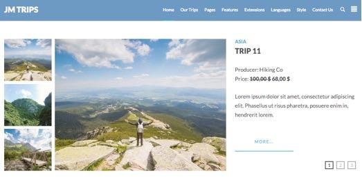 JM Trips Joomla e-commerce Template