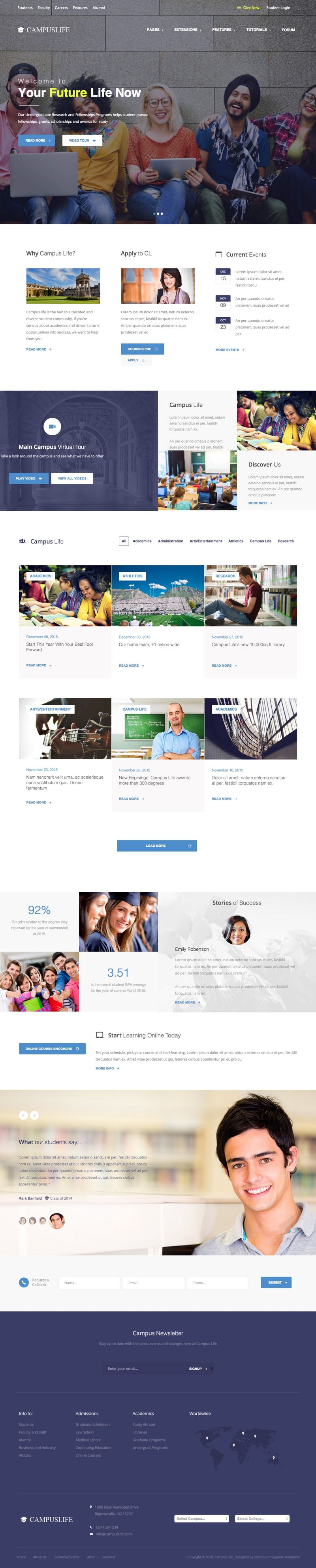 Campus Life Joomla Education Template