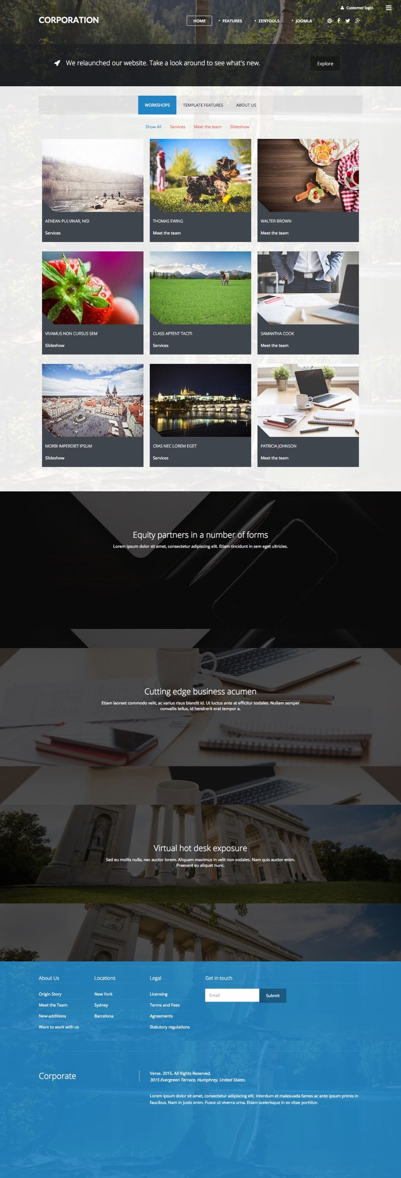 Corporation Joomla 3.x High Speed Lightweight Template