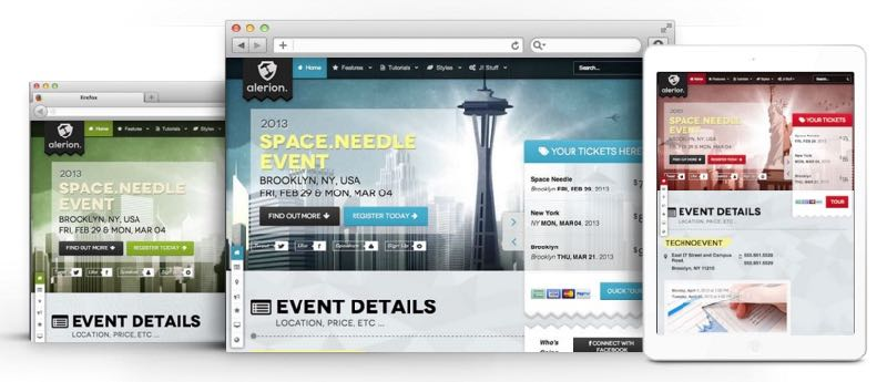 Alerion Joomla Event Management / Public Speaker Template
