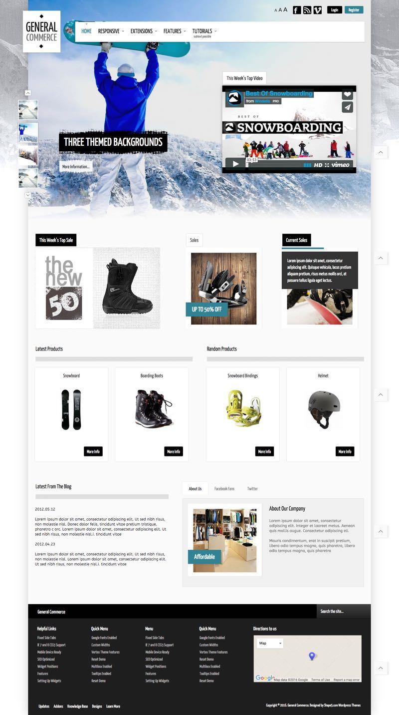General Commerce WordPress Online Store Theme