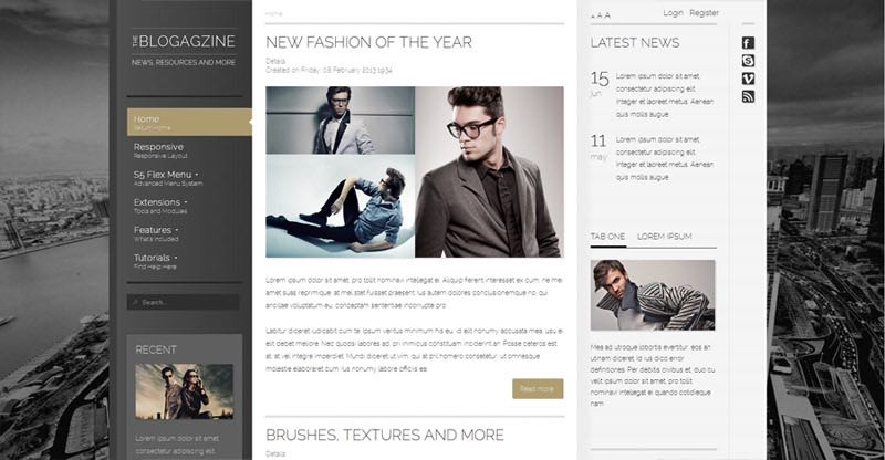 The Blogazine WordPress Blog Theme
