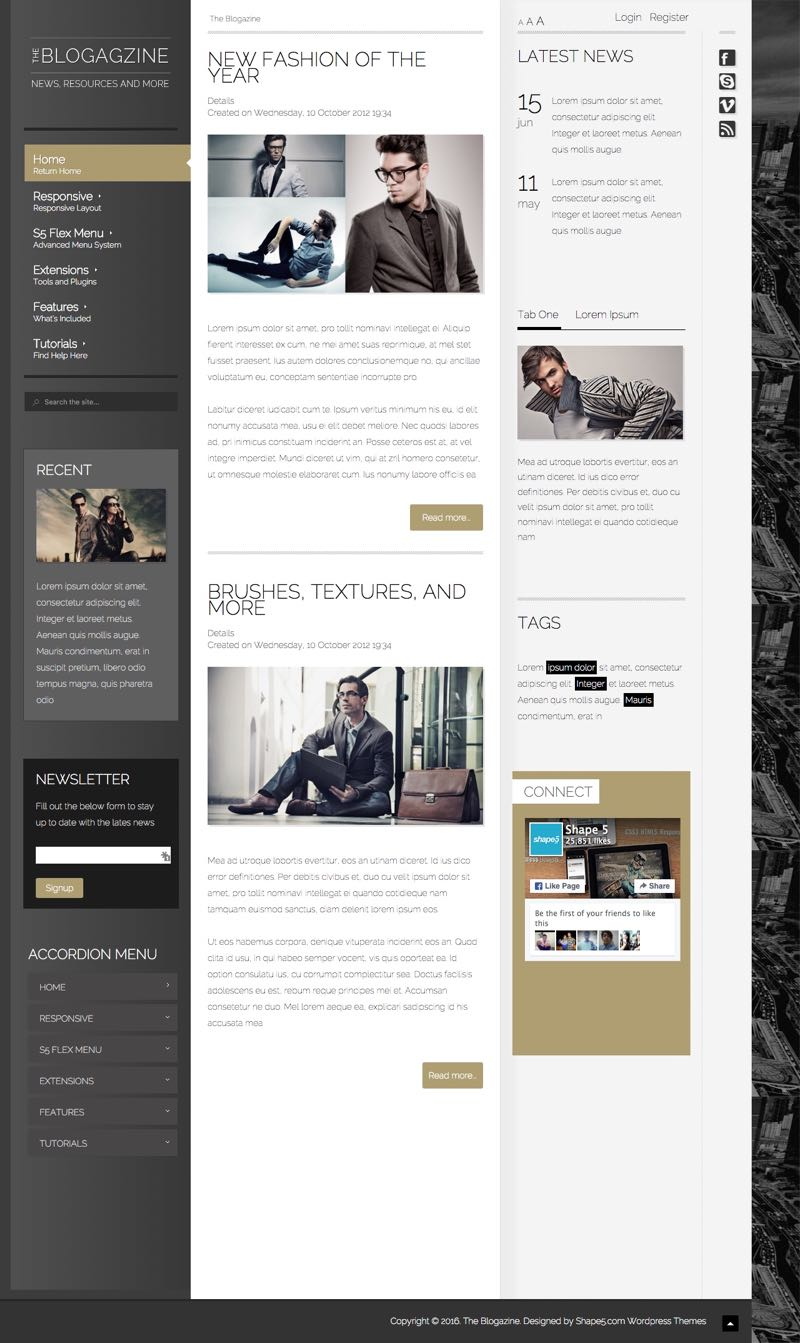 The Blogazine WordPress Magazine Style Theme