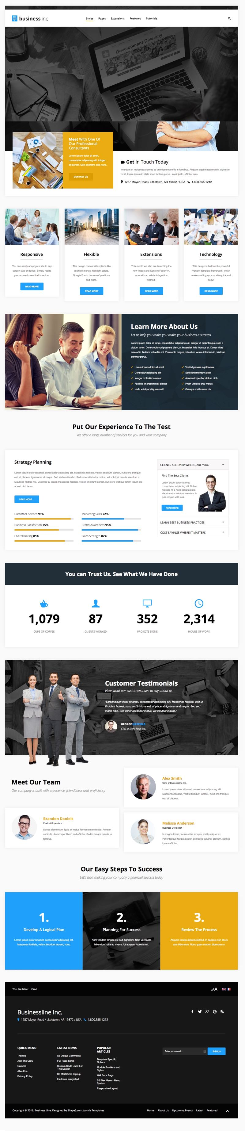 Business Line Joomla Corporate Service Template