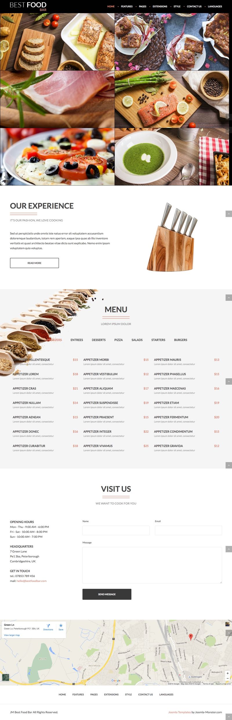 JM Best Food Bar Joomla Cooking & Food Recipes Template