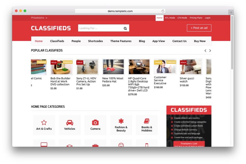 Classifieds – Advanced Classified Ads Listing Directory Theme