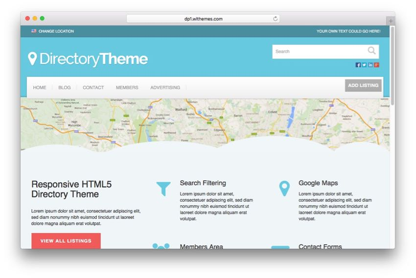 Directory Theme – HTML5 Responsive WordPress Directory Theme