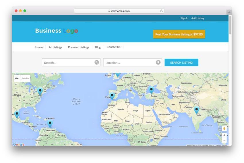 GeoCraft – Local City Business Directory WordPress Theme