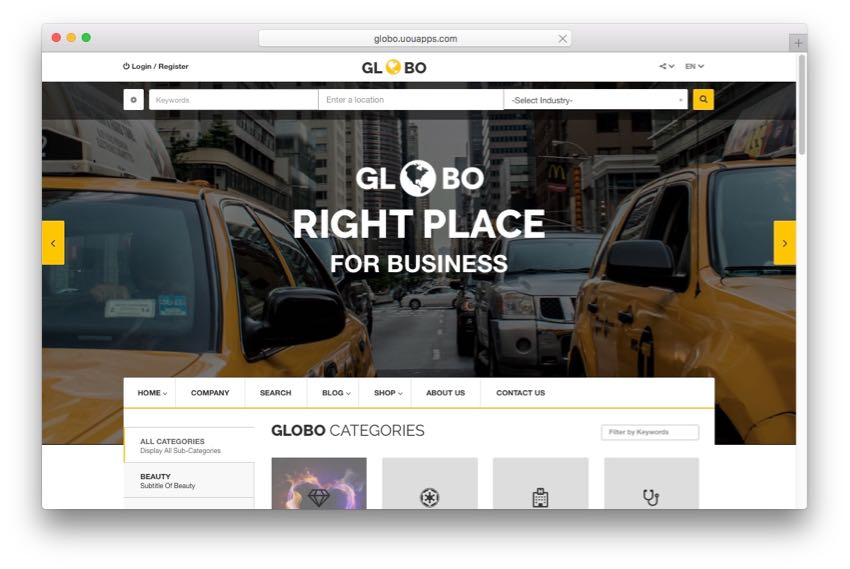 Globo – Directory & Listing WordPress Theme