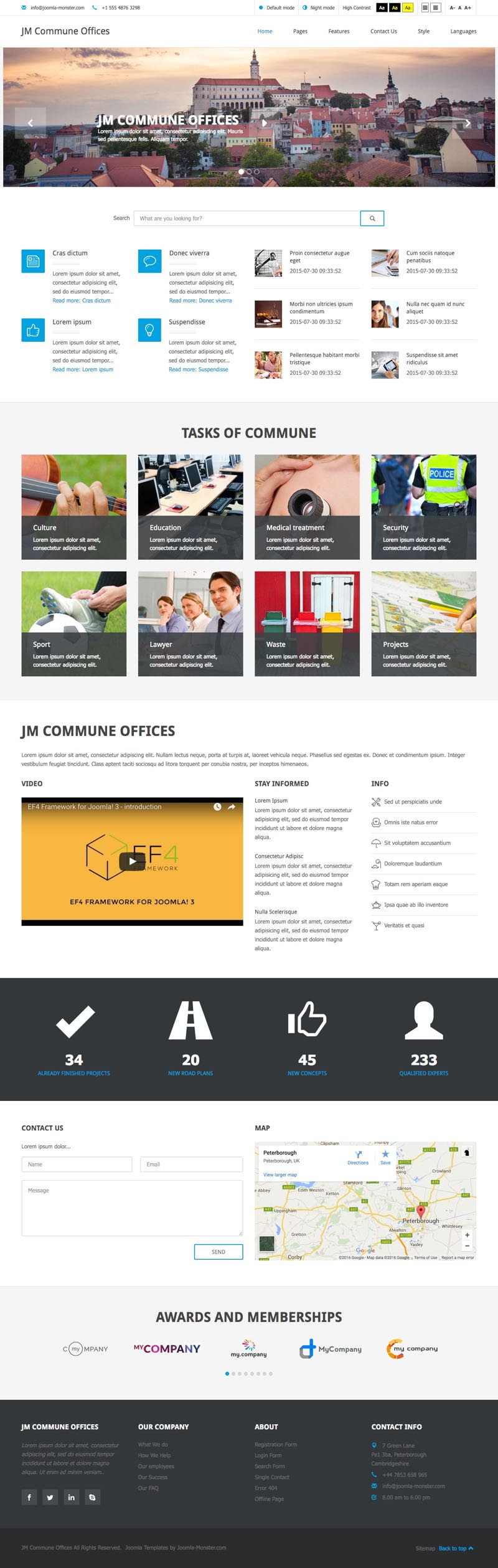 JM Commune Offices Joomla WCAG Section 508 Template