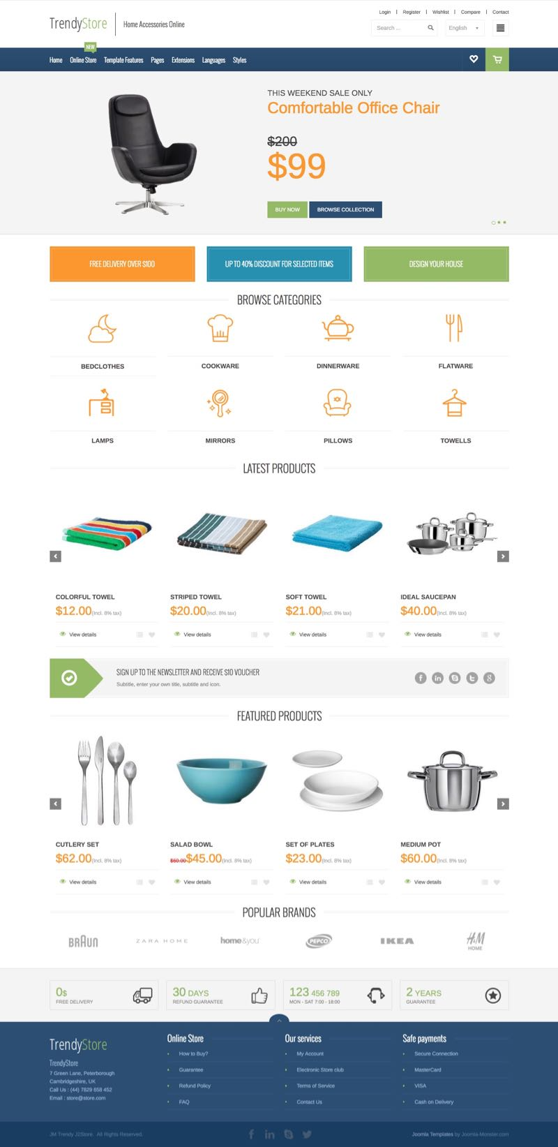 JM Trendy J2Store Joomla Home Accessories Template