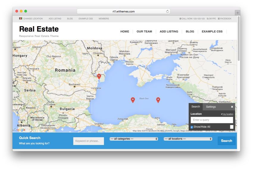 Real Estate – WordPress Property Listing Directory Theme