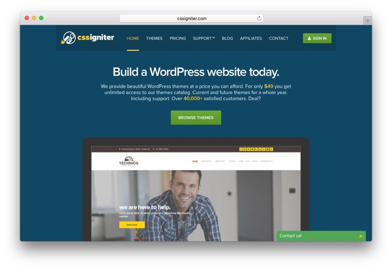 CSS Igniter WordPress Theme Club & Membership