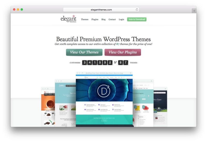 ElegantThemes WordPress Theme Club & Membership