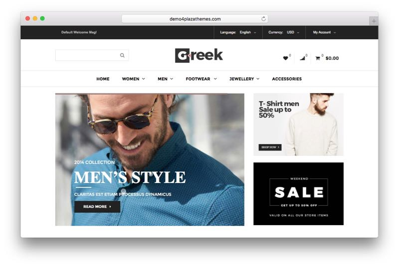 Greek Luxury Magento Fashion Shopping Theme