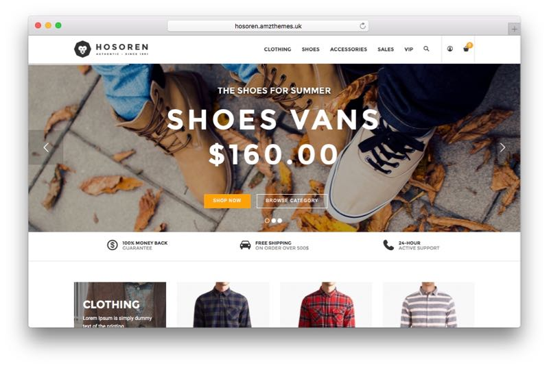 Hosoren Mobile App View Magento Fashion Theme