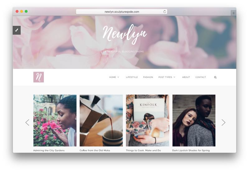 Newlyn Beautifully Feminine Wedding WordPress Theme