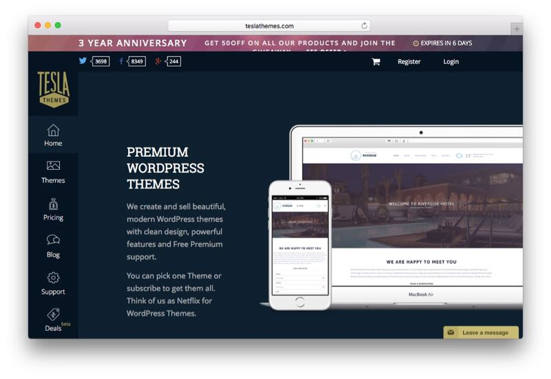 Tesla Themes WorPress Club & Membership